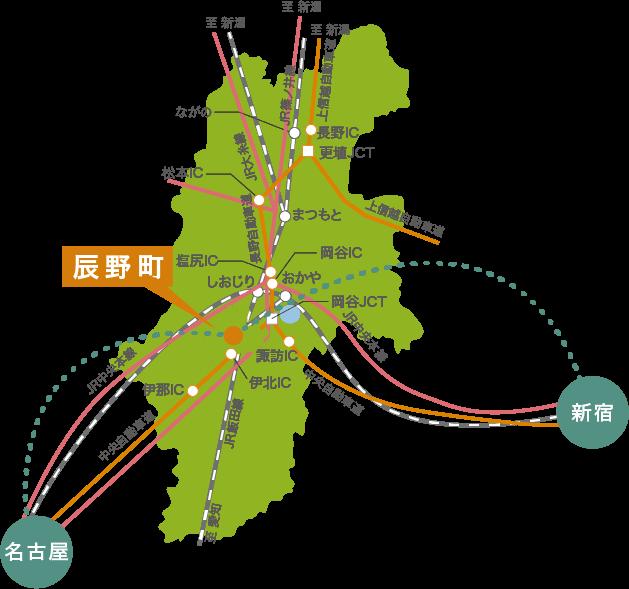 辰野町の位置